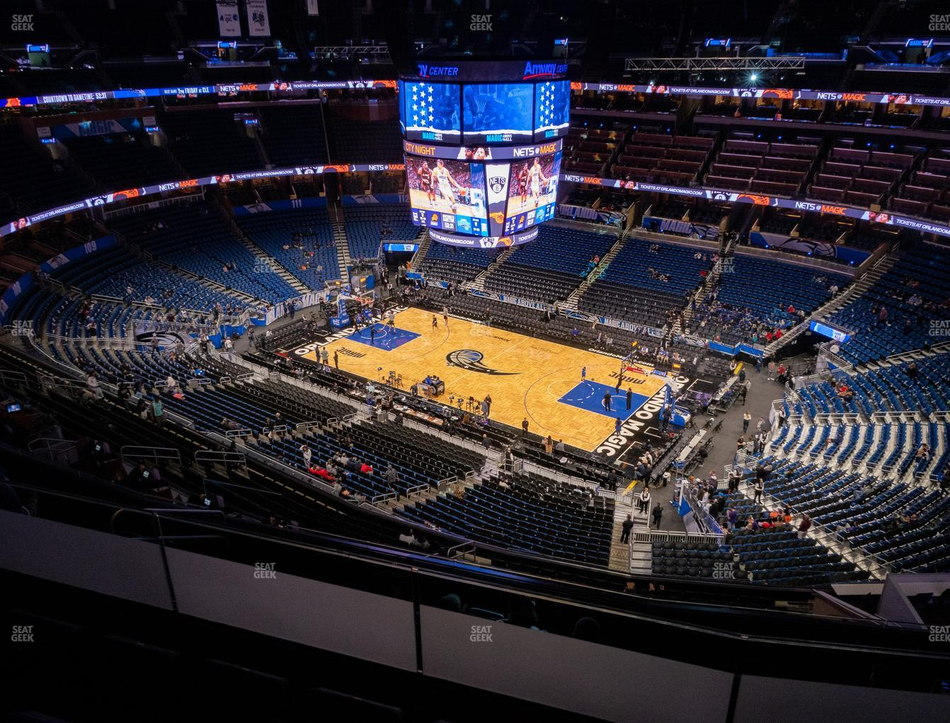 Orlando Magic at Amway Center Section 206 View