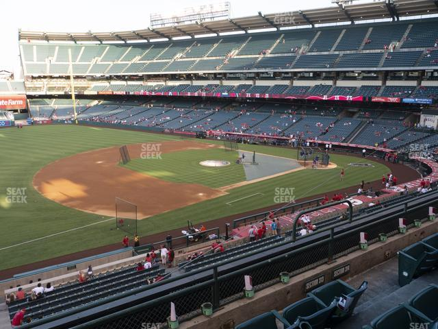 Angel Stadium of Anaheim Section 313 view
