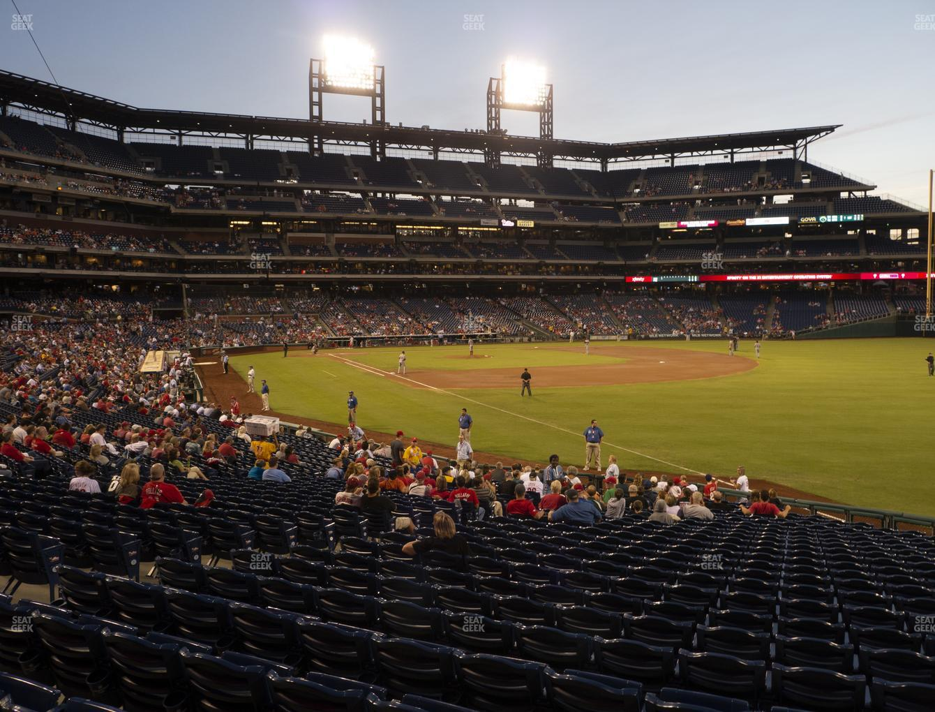 Philadelphia Phillies at Citizens Bank Park Section 109 View