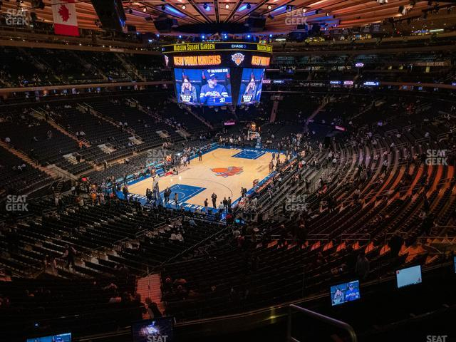Madison Square Garden Section 206 view