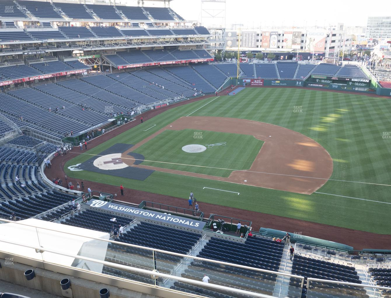 Washington Nationals at Nationals Park Section 320 View