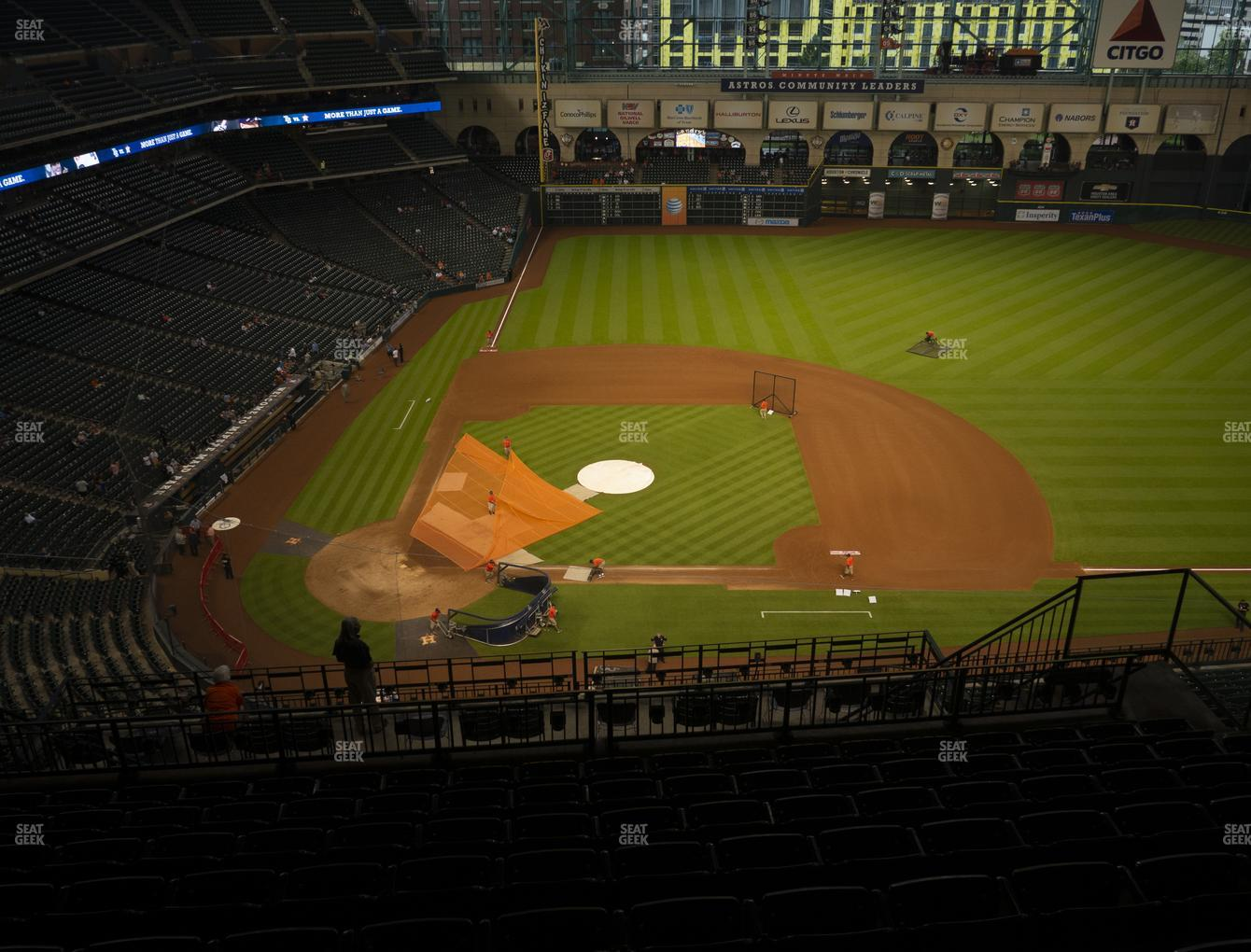 Houston Astros at Minute Maid Park Section 424 View
