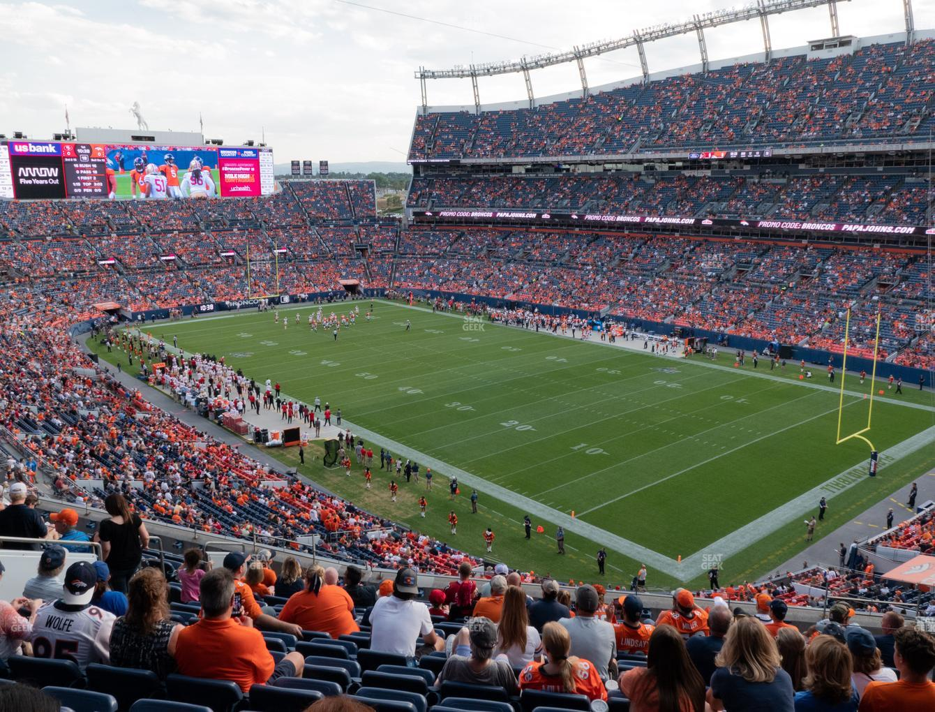 Denver Broncos at Empower Field at Mile High Section 328 View