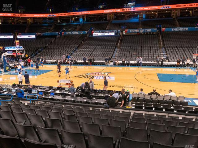Chesapeake Energy Arena Section 115 view