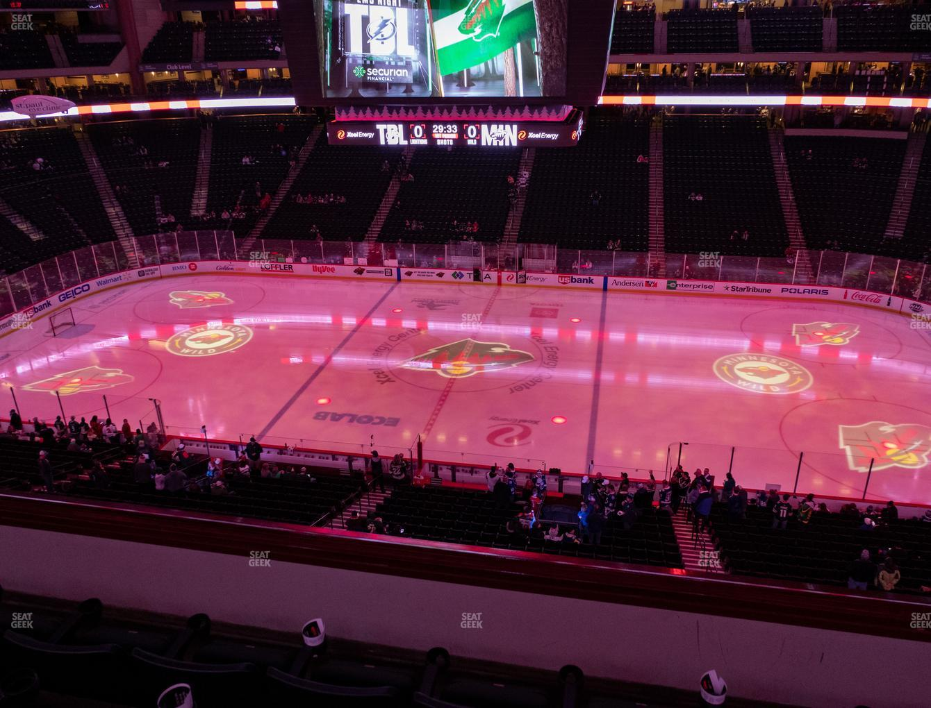 Minnesota Wild at Xcel Energy Center Section Club 25 View