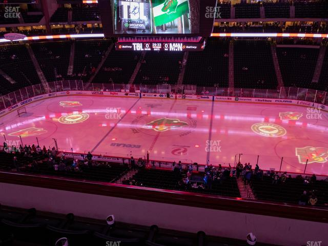 Xcel Energy Center Section Club 25 view