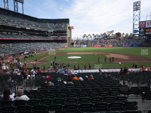 Oracle Park Section 109 view
