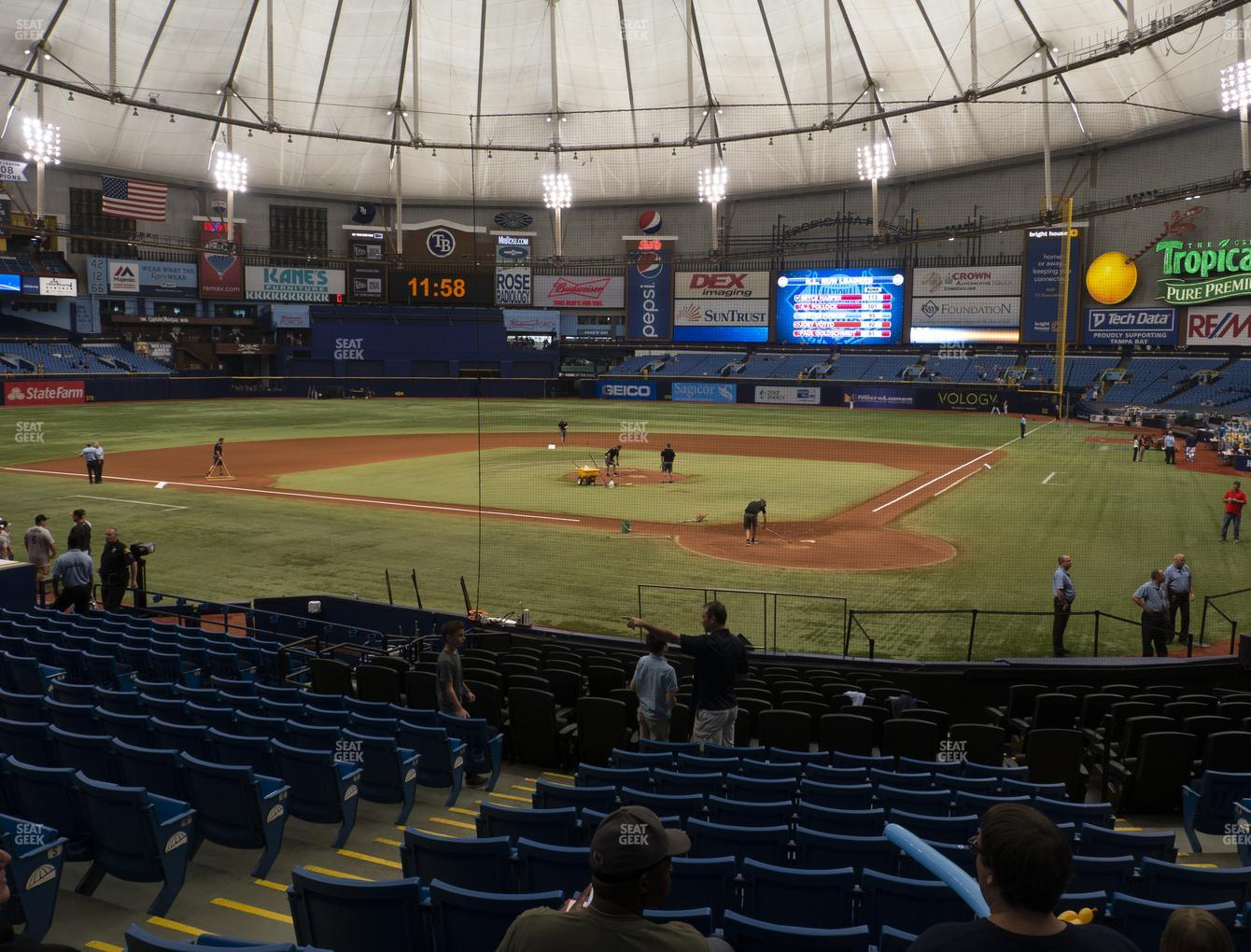 Tampa Bay Rays at Tropicana Field Section 105 View