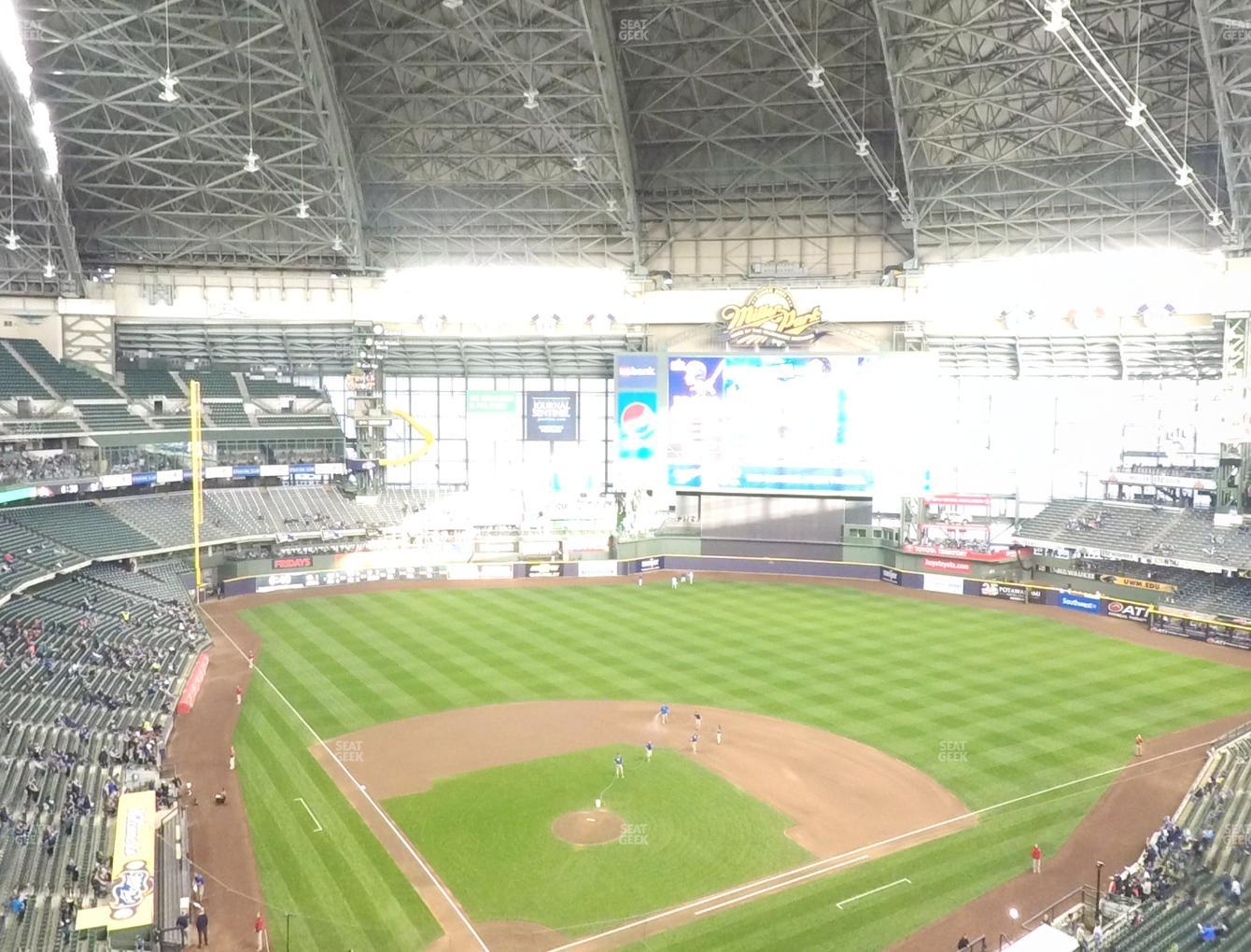 Milwaukee Brewers at Miller Park Section 420 View