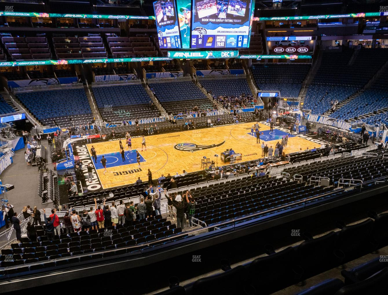 Orlando Magic at Amway Center Section Club E View
