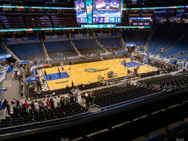 Amway Center Section Club E view