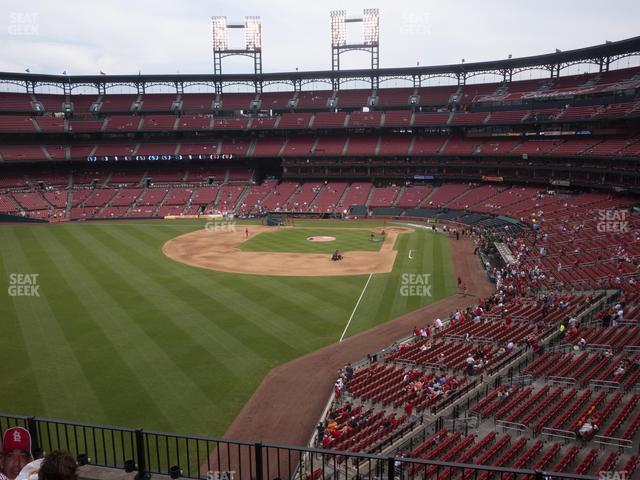 Busch Stadium Left Field Loge 270 view