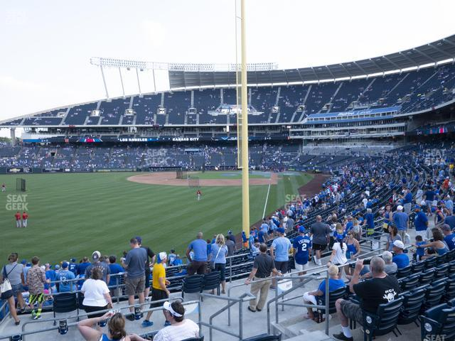 Kauffman Stadium Section 206 view
