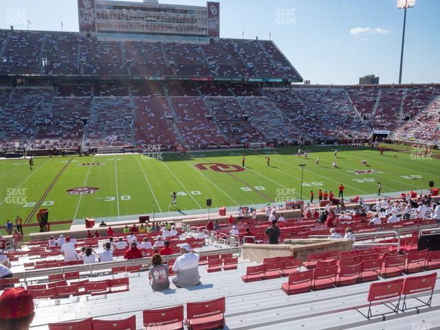 Gaylord Family Oklahoma Memorial Stadium Section 32 view