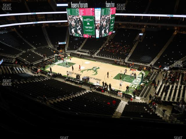 Fiserv Forum Section 220 view