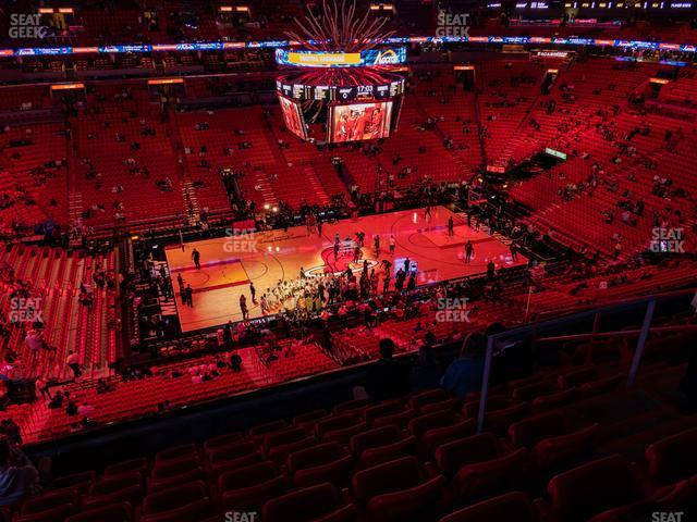 American Airlines Arena Section 310 view
