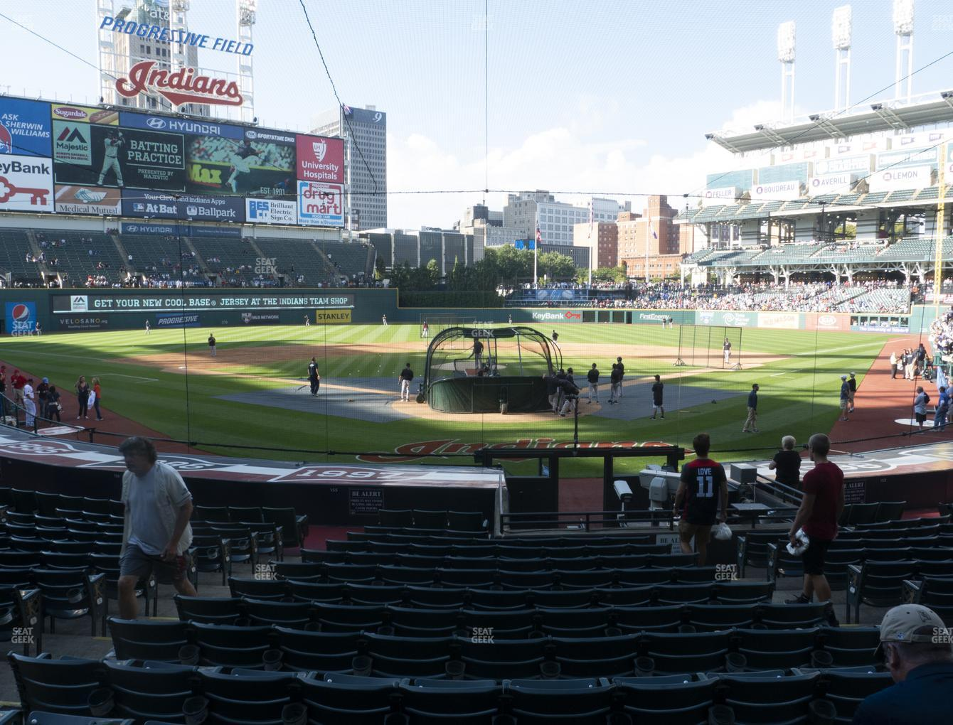Cleveland Indians at Progressive Field Section 154 View