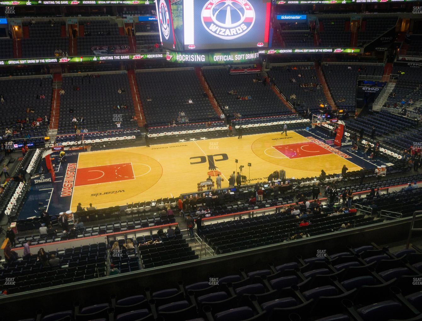 Washington Wizards at Capital One Arena Section 229 View