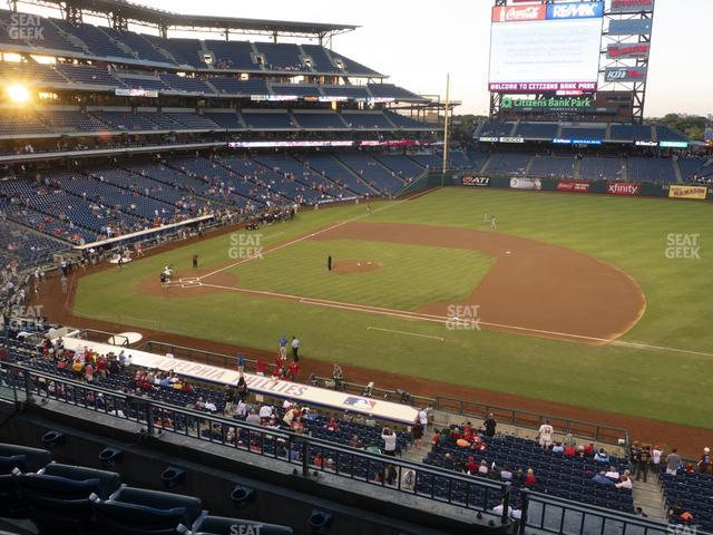 Citizens Bank Park Section 214 view