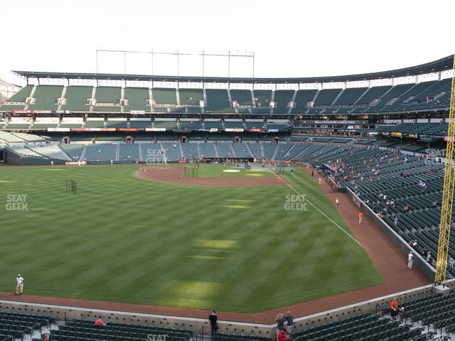 Oriole Park at Camden Yards Section 284 view