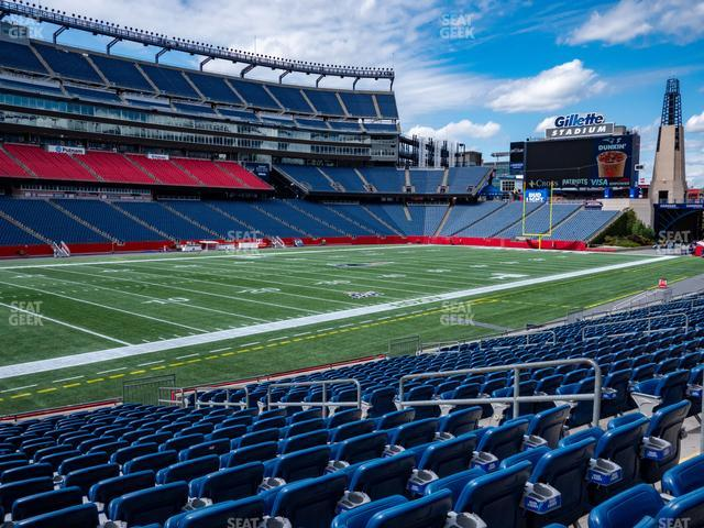 Gillette Stadium Section 115 view