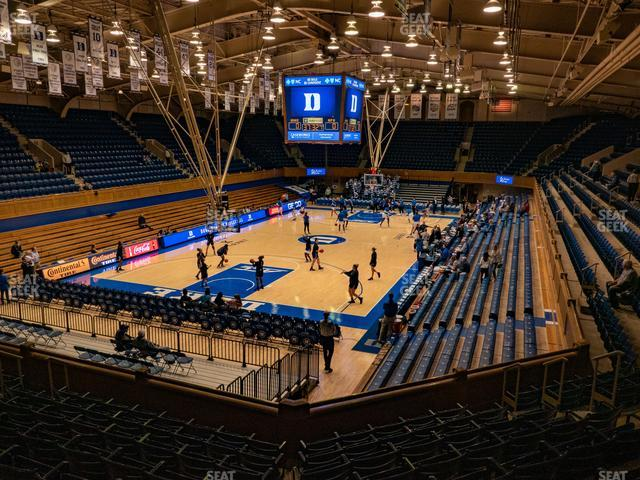 Cameron Indoor Stadium Section 3 view
