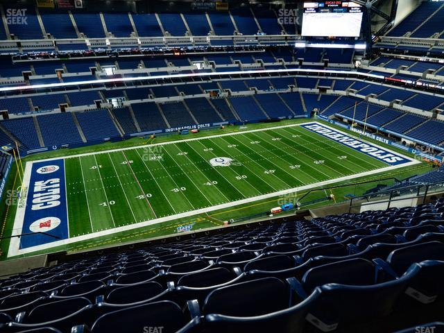 Lucas Oil Stadium Section 643 view