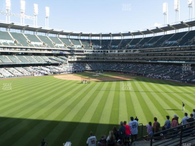 Progressive Field Section 185 view