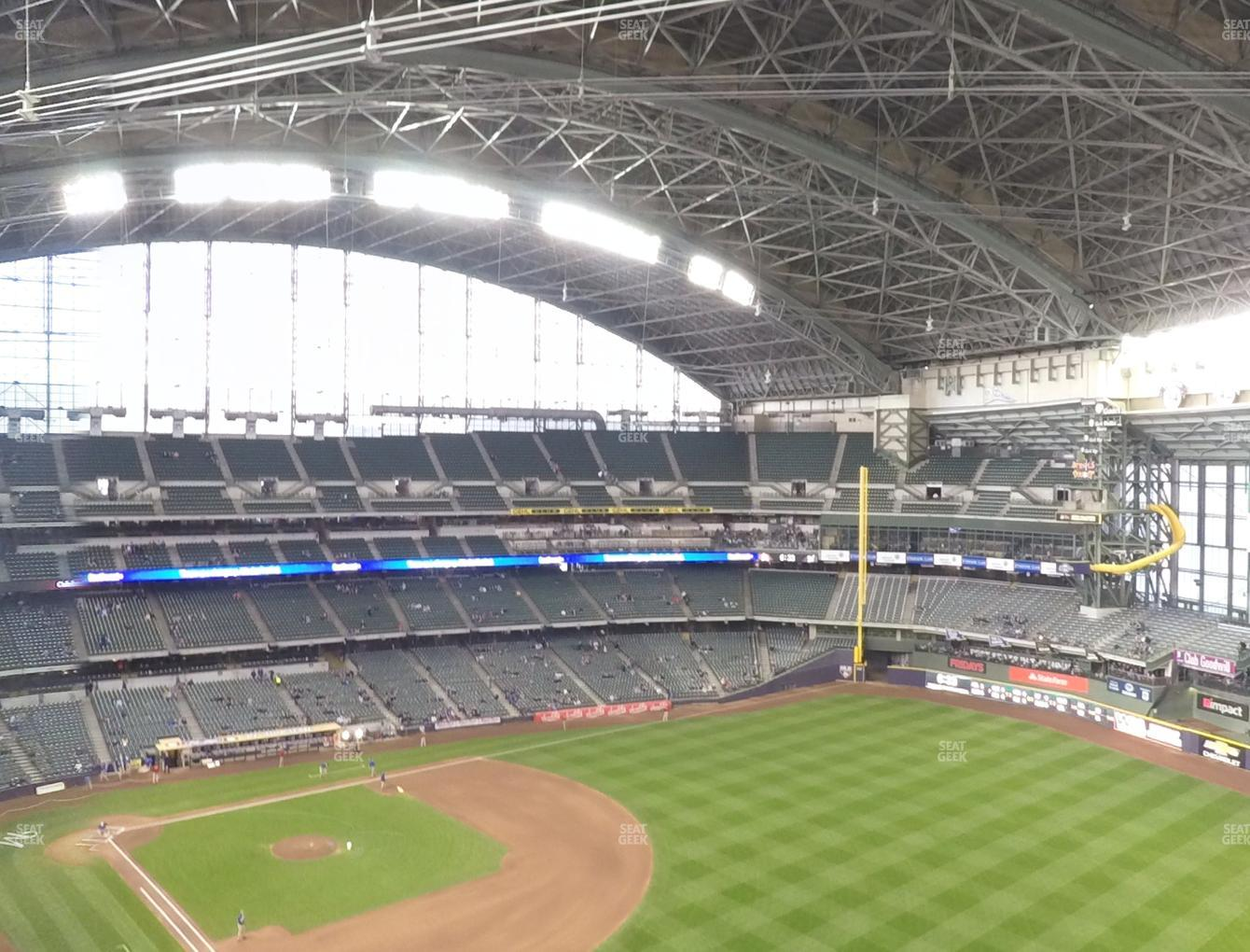 Milwaukee Brewers at Miller Park Section 407 View