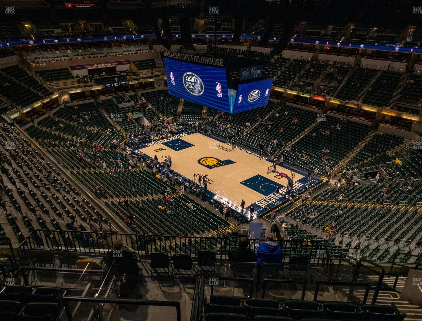 Indiana Pacers at Bankers Life Fieldhouse Section 205 View
