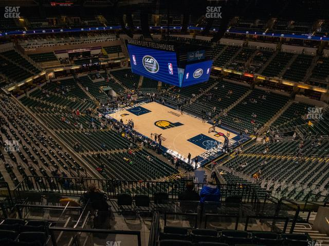 Bankers Life Fieldhouse Section 205 view