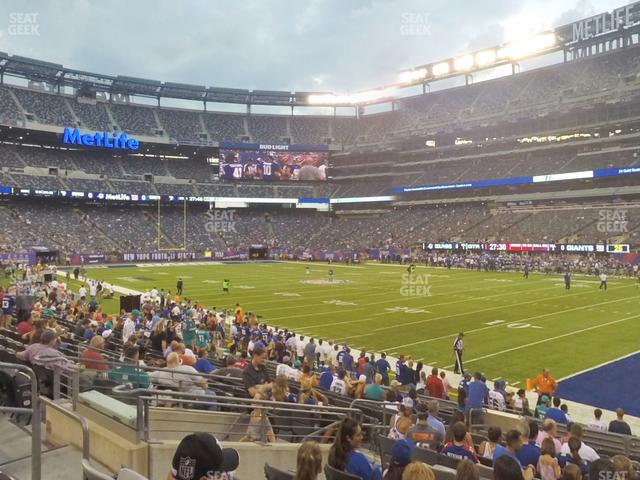 MetLife Stadium Section 133 view