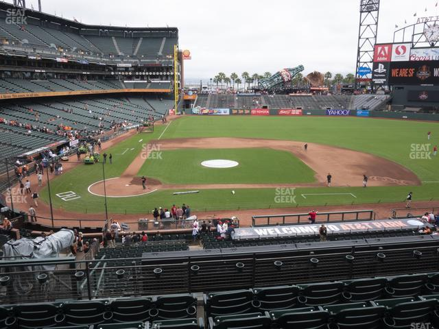 Oracle Park Section 210 view