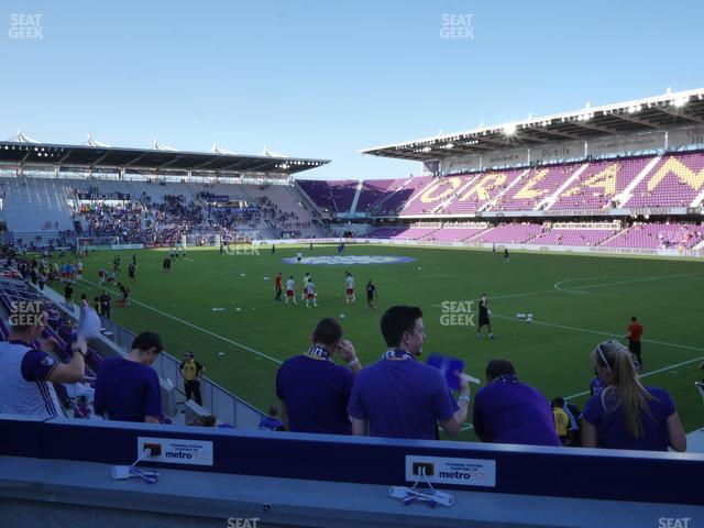 Exploria Stadium Section 9 view
