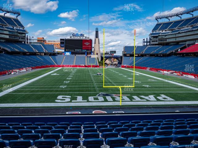 Gillette Stadium Section 121 view
