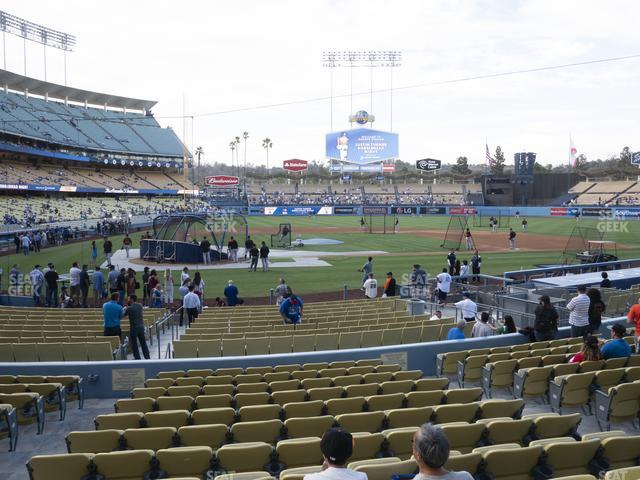 Dodger Stadium Field Box 10 view