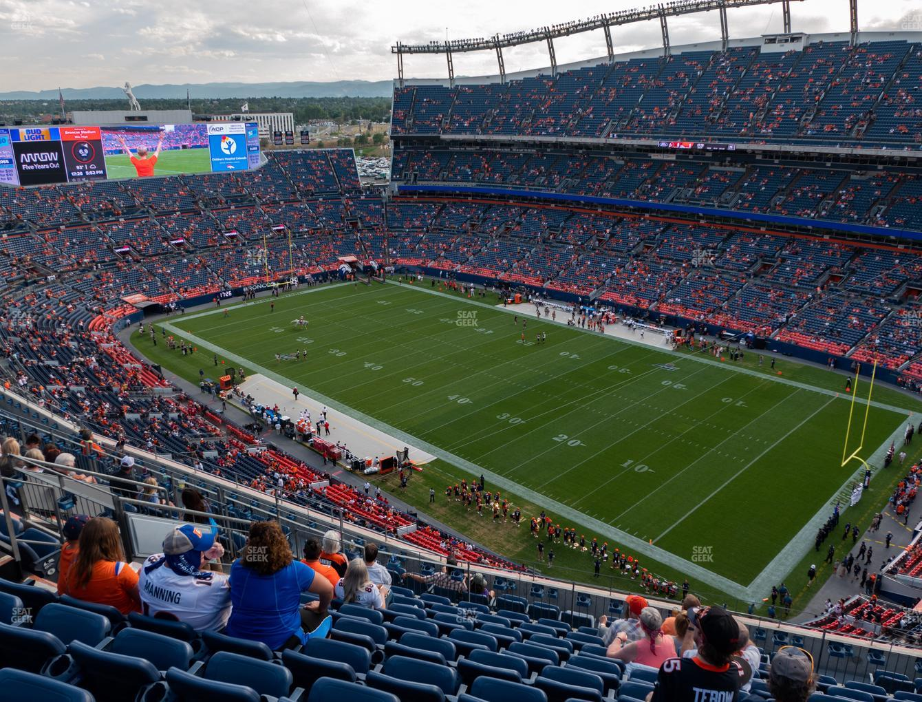 Denver Broncos at Empower FIeld at Mile High Section 528 View