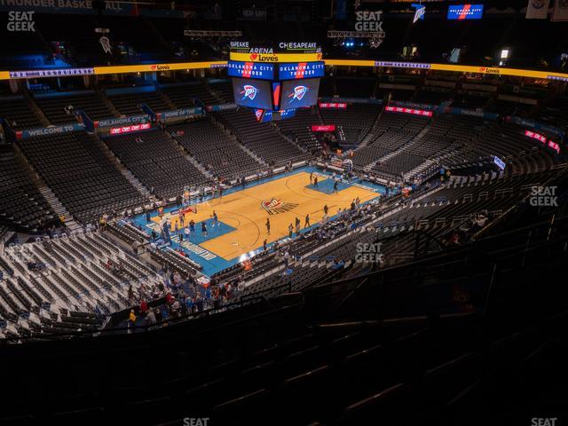 Chesapeake Energy Arena Section 327 view