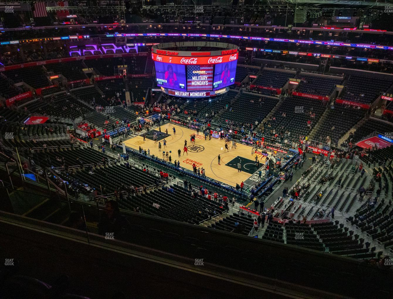 Los Angeles Lakers at Staples Center Section 315 View
