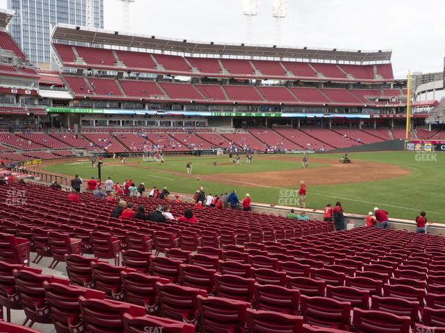 Great American Ball Park Section 134 view