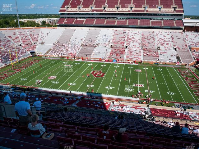 Gaylord Family Oklahoma Memorial Stadium Section 104 view