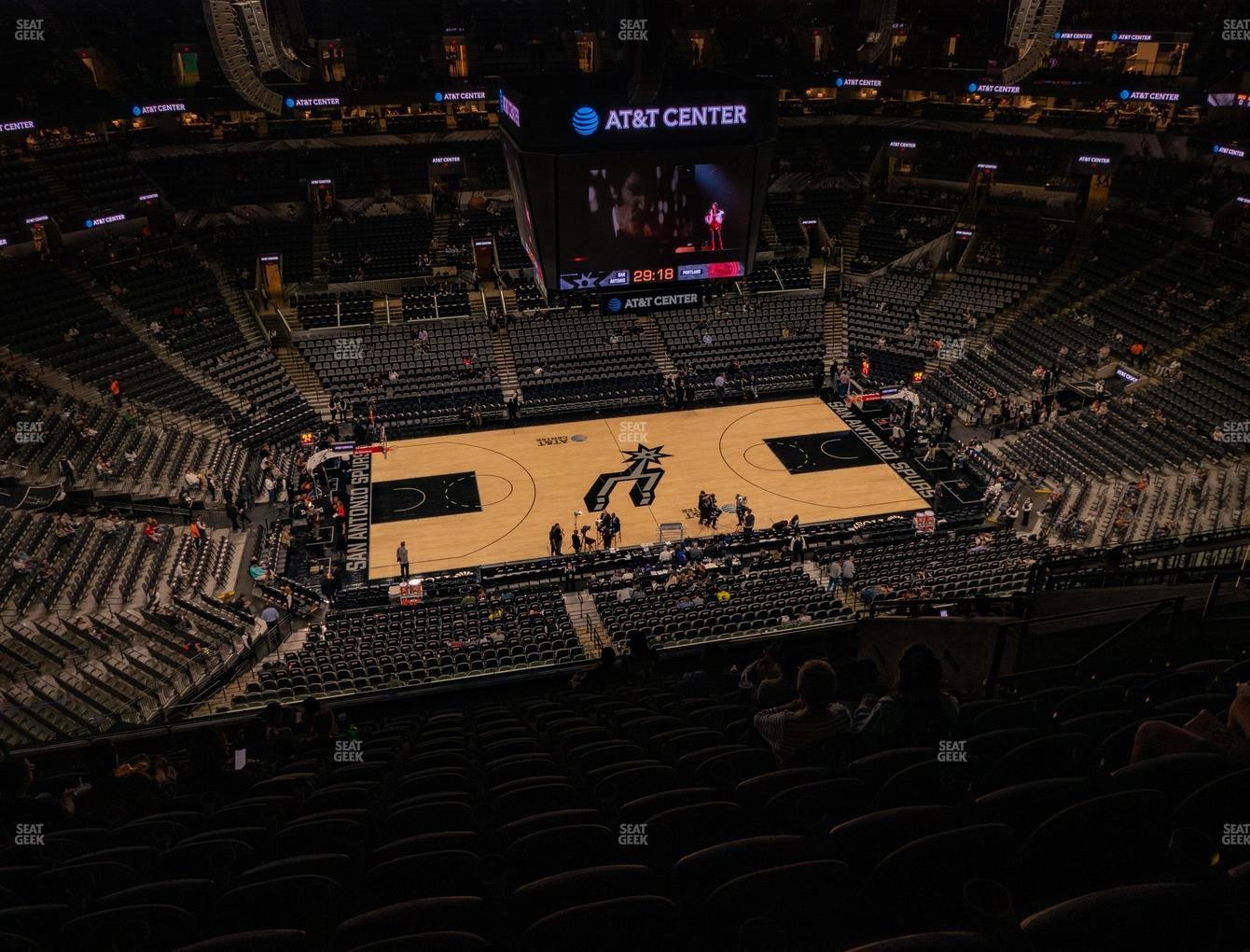 San Antonio Spurs at AT&T Center Section 209 View