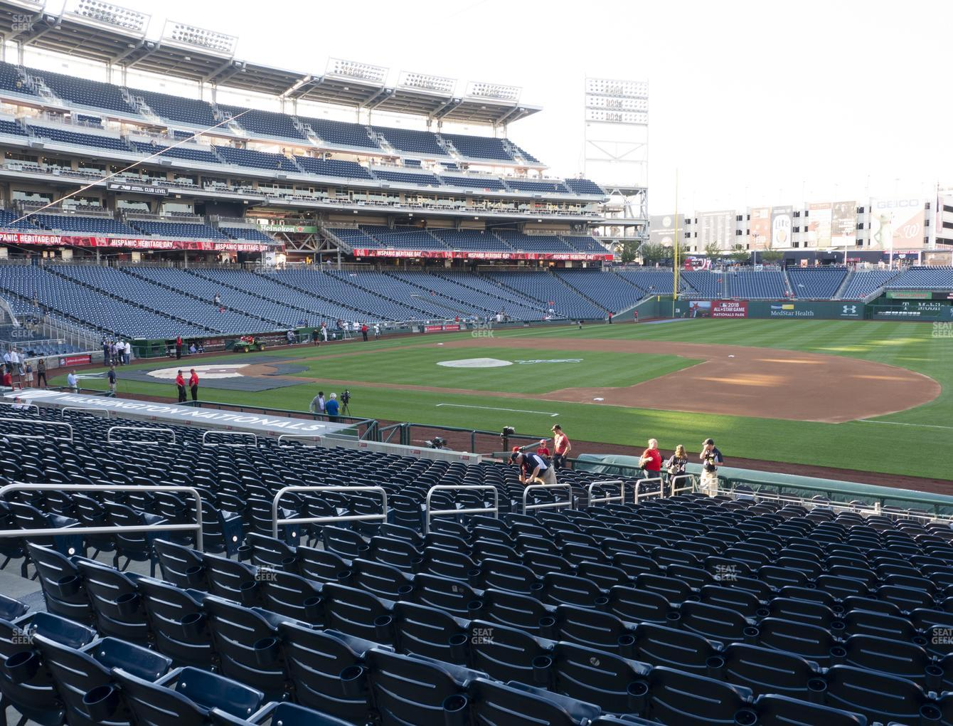 Nationals Park Section 133 Seat Views