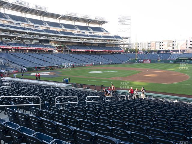 Nationals Park Section 133 view