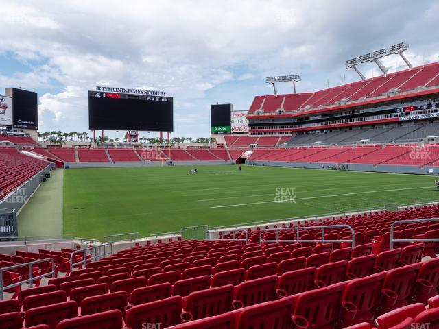 Raymond James Stadium Section 145 view