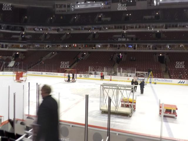United Center Section 122 view
