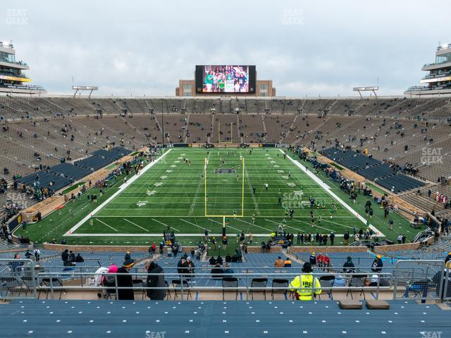 Notre Dame Stadium Section 101 view