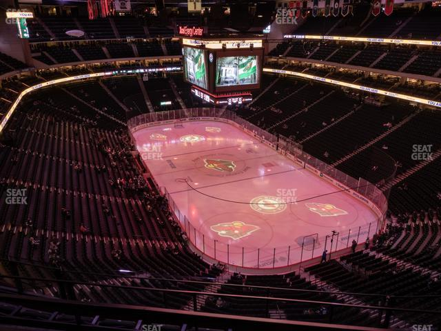 Xcel Energy Center Section 214 view