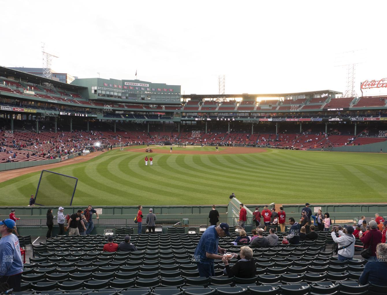 Boston Red Sox at Fenway Park Bleacher 42 View