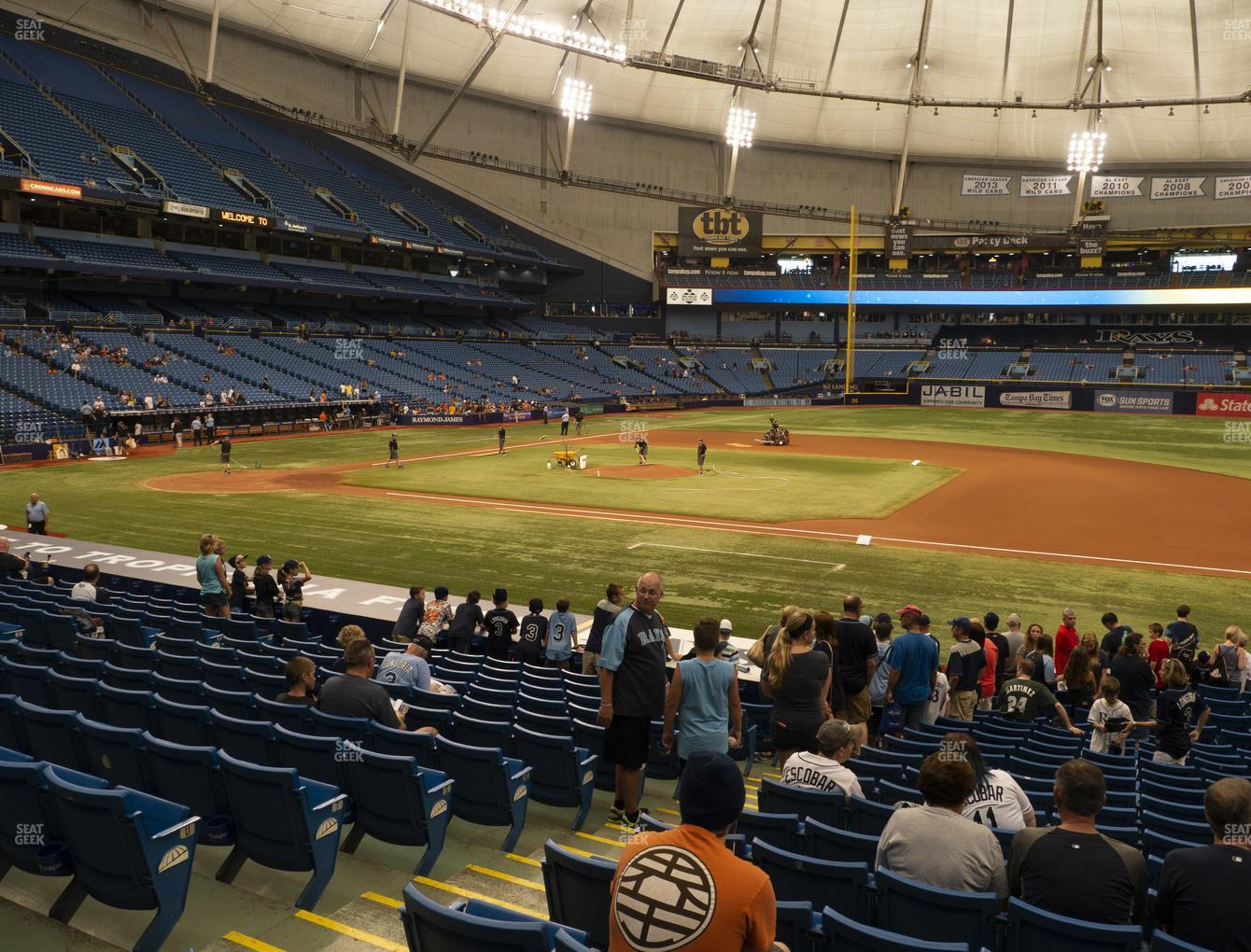 Tampa Bay Rays at Tropicana Field Section 120 View